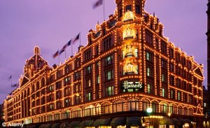 Can you shopping at Harrods and moving from a scent room to another?